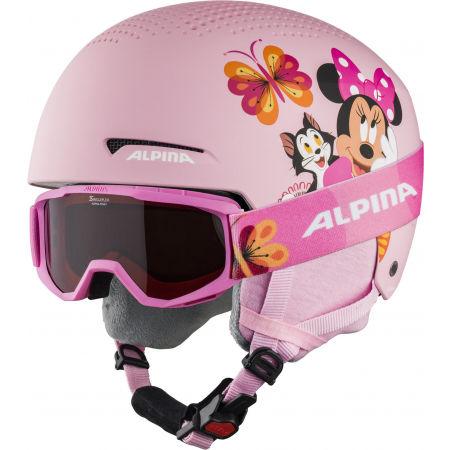 Alpina Sports ZUPO DISNEY SET - Dětská lyžařská helma a brýle