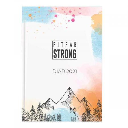 Fitfab Strong DIÁŘ 2021 - Týdenní fitness diář pro rok 2021