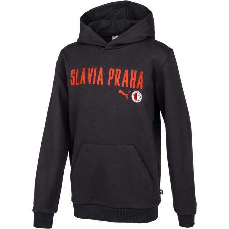 Chlapecká mikina - Puma Slavia Prague Graphic Hoody Jr DGRY - 2