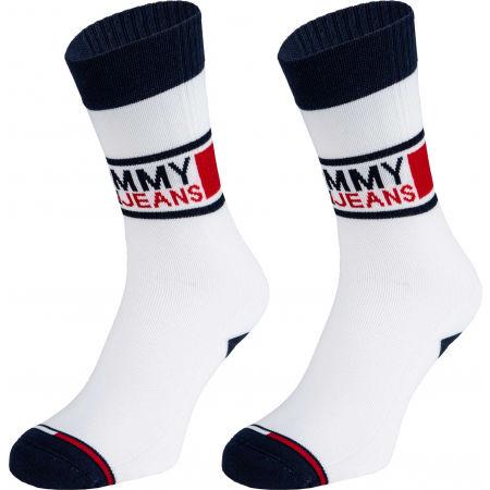 Tommy Hilfiger UNISEX TOMMY JEANS SOCK 2P - Unisexové ponožky