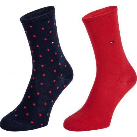 Dámské ponožky - Tommy Hilfiger WOMEN SOCK DOT 2P - 1