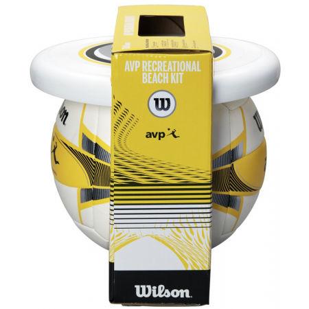 Plážový set - Wilson AVP BEACH KIT W/DISK YEL - 2