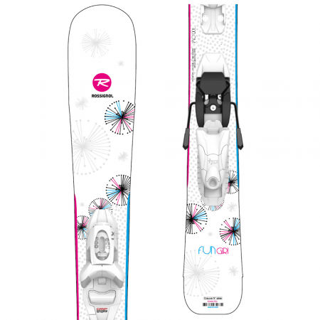 Dívčí sjezdové lyže - Rossignol FUN GIRL KID + KID 4 GW - 1