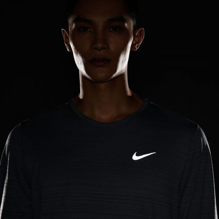 Pánské běžecké triko s dlouhým rukávem - Nike DRI-FIT MILER - 7