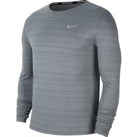 Pánské běžecké triko s dlouhým rukávem - Nike DRI-FIT MILER - 1