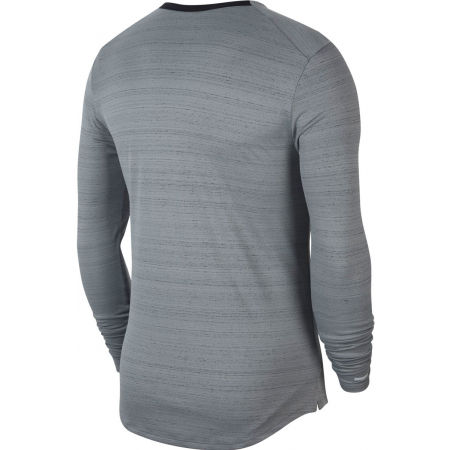 Pánské běžecké triko s dlouhým rukávem - Nike DRI-FIT MILER - 2