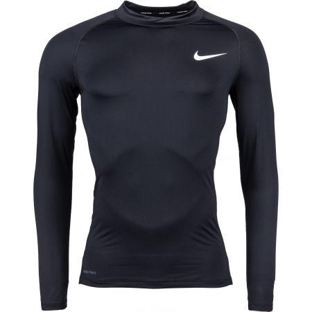Nike NP TOP LS TIGHT MOCK M - Pánské triko s dlouhým rukávem