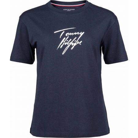 Dámské tričko - Tommy Hilfiger CN TEE SS LOGO - 1