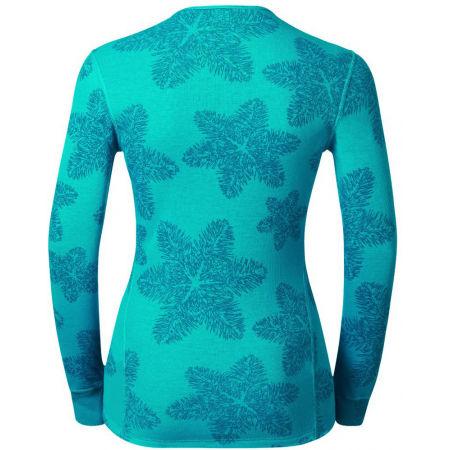 Dámské funkční tričko - Odlo L/S CREW NECK GOD JUL PRINT WIN - 2