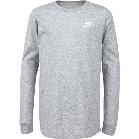 Nike NSW TEE LS EMB FUTURA B - Chlapecké triko s dlouhým rukávem