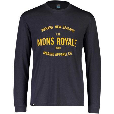 MONS ROYALE ICON LS - Pánské triko z merino vlny s dlouhým rukávem