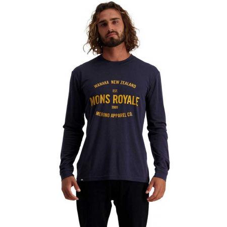 Pánské triko z merino vlny s dlouhým rukávem - MONS ROYALE ICON LS - 3