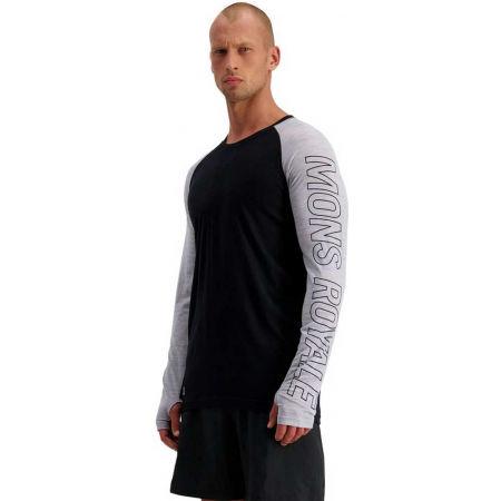 Pánské funkční triko z merino vlny - MONS ROYALE TEMPLE TECH LS - 4