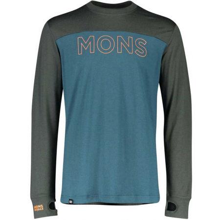 Pánské triko z merino vlny - MONS ROYALE YOTEI TECH LS - 1