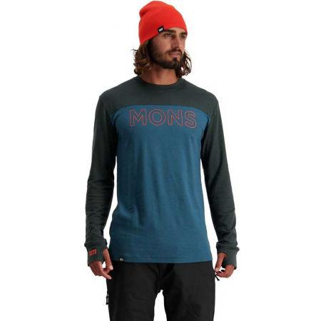 Pánské triko z merino vlny - MONS ROYALE YOTEI TECH LS - 3