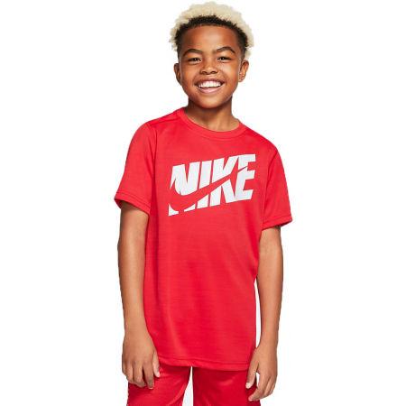 Nike HBR + PERF TOP SS B - Chlapecké tréninkové tričko