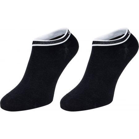 Calvin Klein WOMEN LINER 2P LOGO CUFF STRIPE SPENCER - Dámské ponožky