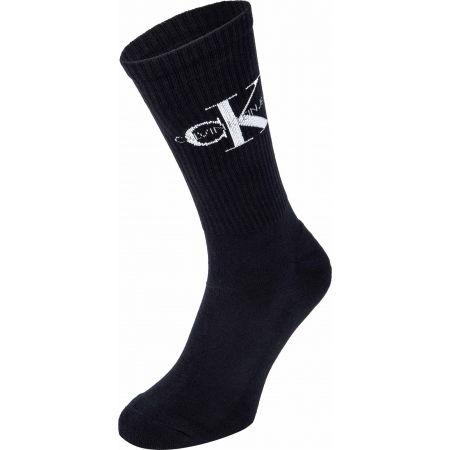 Pánské ponožky - Calvin Klein MEN CREW 1P CK JEANS RIB DESMOND - 1