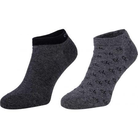 Calvin Klein MEN LINER 2P ALL OVER CK LOGO EDUARDO - Pánské ponožky