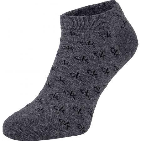 Pánské ponožky - Calvin Klein MEN LINER 2P ALL OVER CK LOGO EDUARDO - 4