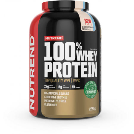 Nutrend 100% WHEY PROTEIN 2250 g BÍLÁ ČOKOLÁDA-KAKAO - Protein