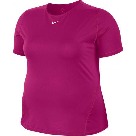 Nike TOP SS ALL OVER MESH PLUS W - Dámské tričko plus size