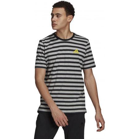 adidas STRIPY SJ TEE - Pánské tričko