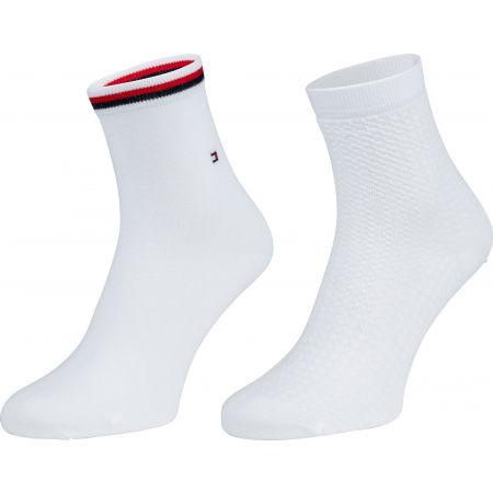Tommy Hilfiger WOMEN SHORT SOCK 2P WAFFLE - Dámské ponožky