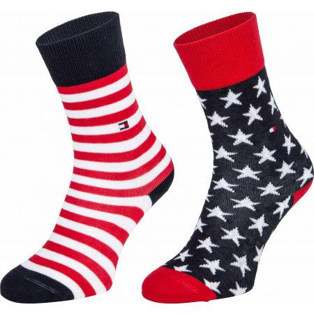 Tommy Hilfiger KIDS SOCK 2P STARS AND STRIPES - Dětské ponožky