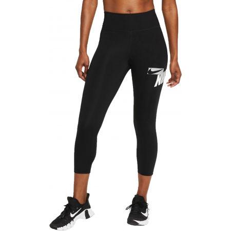 Nike ONE CROPPED GRAPHIC - Dámské sportovní legíny