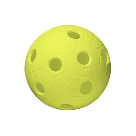 Florbalový míček - Unihoc BALL CRATER NEON YELLOW