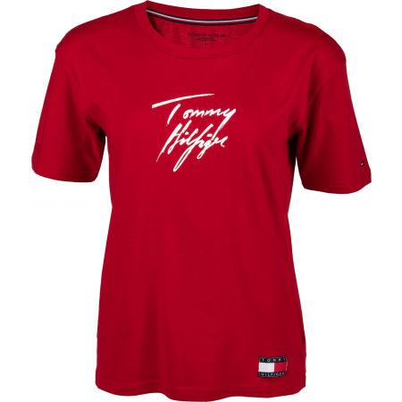 Tommy Hilfiger CN TEE SS LOGO - Dámské tričko