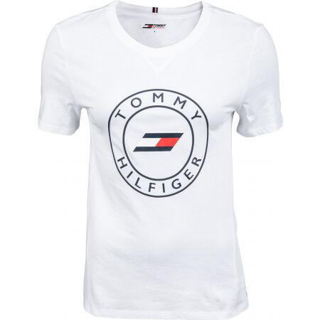 Tommy Hilfiger SLIM ROUND GRAPHIC C-NK TEE SS - Dámské tričko