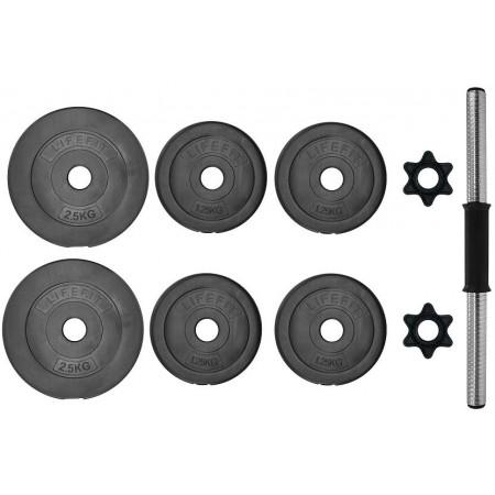 Jednoruční činka - SPORT TEAM VINYL SET 10kg - 2