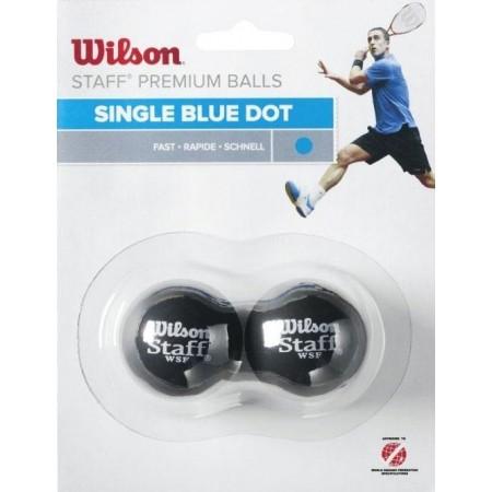Squashový míček - Wilson STAFF SQUASH 2 BALL BLU DOT