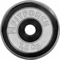 Fitforce NAKLÁDACÍ KOTOUČ 1,5KG CHROM