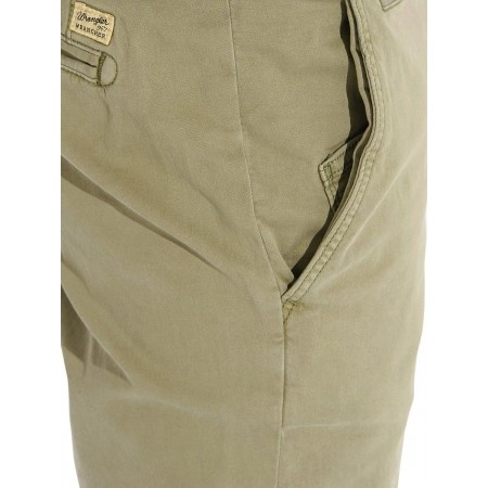 Pánské kalhoty - Wrangler CHINO DUSTY OLIVE - 4