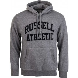 Russell Athletic PULL OVER HOODY WITH FLOCK ARCH LOGO - Pánská mikina