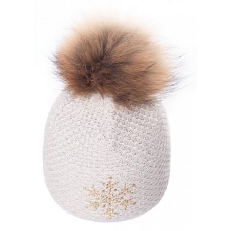 R-JET TOP FASHION EXCLUSIV ZLATÝ LUREX - Dámská pletená čepice