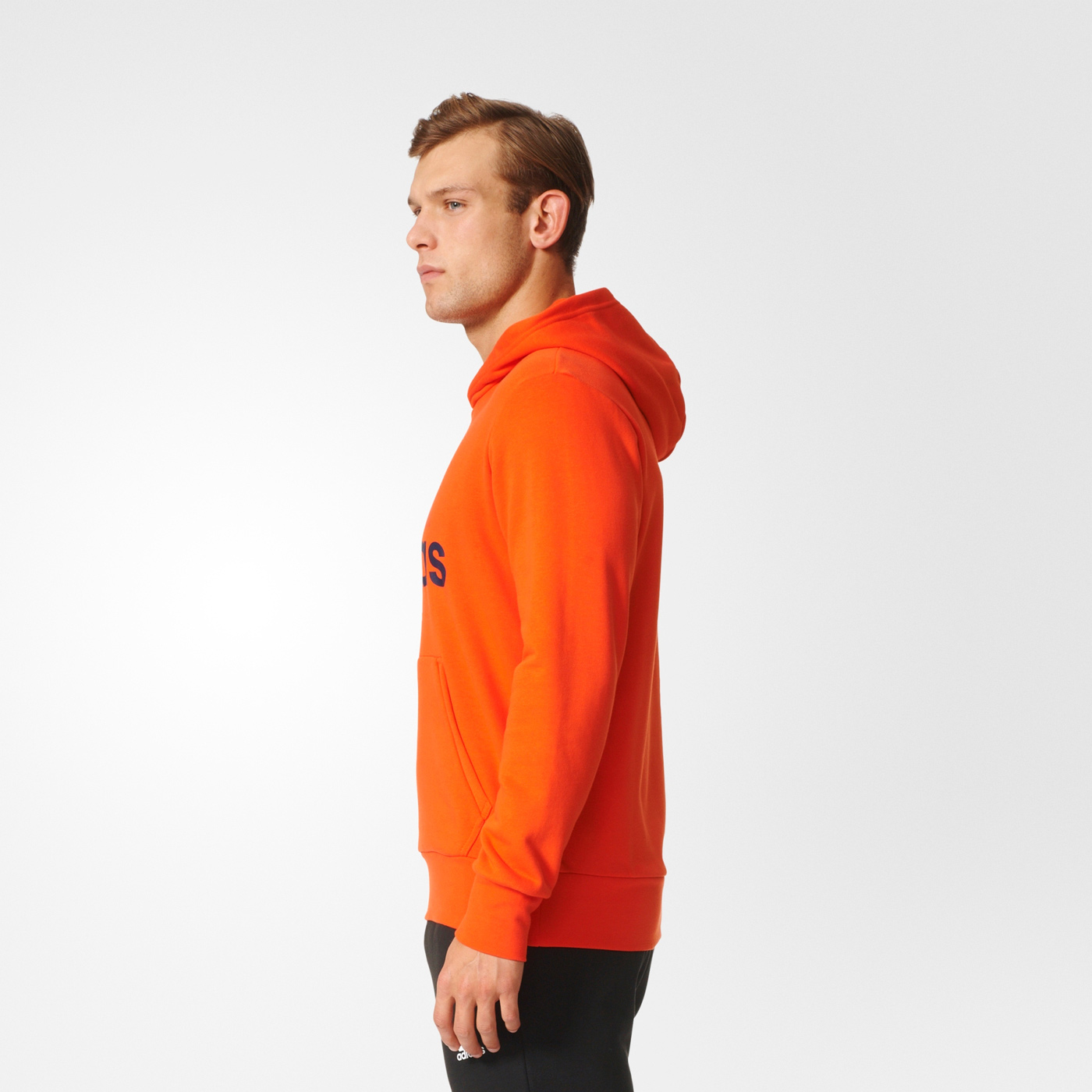 20c748545 adidas ESSENTIALS LINEAR PULLOVER HOOD FRENCH TERRY | sportisimopro.cz