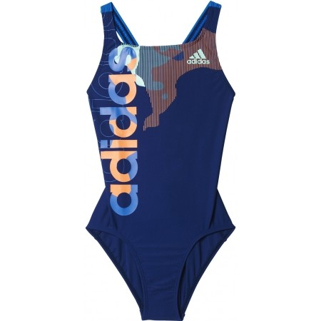 Dívčí jednodílné plavky - adidas BY LINEAGE SUIT - 1