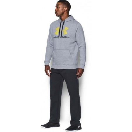 Pánská mikina - Under Armour RIVAL FITTED GRAPHIC HOODIE - 3