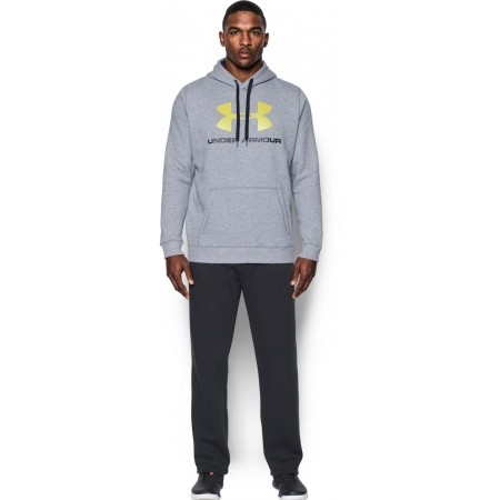 Pánská mikina - Under Armour RIVAL FITTED GRAPHIC HOODIE - 4