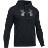 Pánská mikina - Under Armour RIVAL FITTED GRAPHIC HOODIE - 1