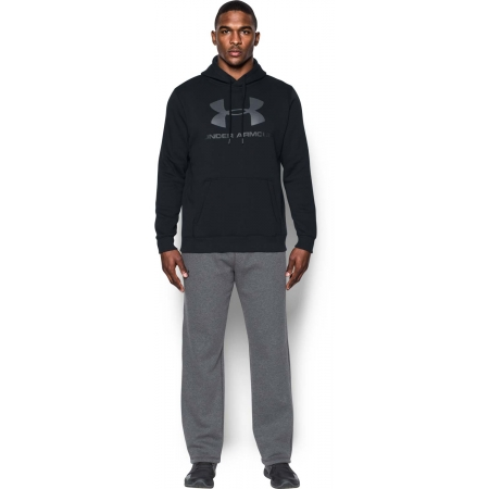Pánská mikina - Under Armour RIVAL FITTED GRAPHIC HOODIE - 10