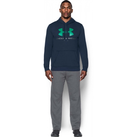 Pánská mikina - Under Armour RIVAL FITTED GRAPHIC HOODIE - 16