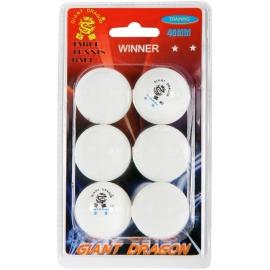 Giant Dragon WHT PI PO MICKY 6PCS - Míčky pro stolní tenis