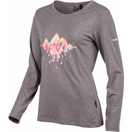 Dámské tričko - Hi-Tec LADY HUBEL LS - 2