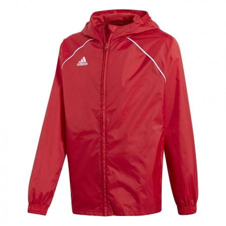 adidas CORE18 RAIN JACKET YOUTH - Dětská fotbalová bunda