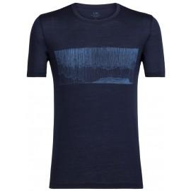 Icebreaker TECH LITE SS CREWE HARD RAIN - Pánské tričko